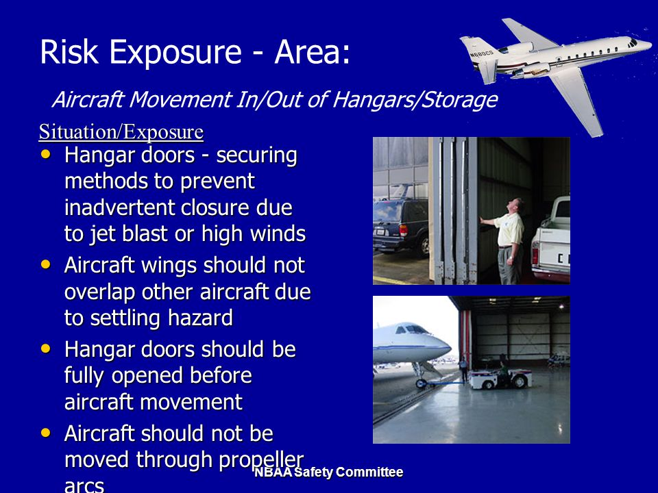 Risk Exposure - Area: Aircraft Movement In/Out of Hangars/Storage