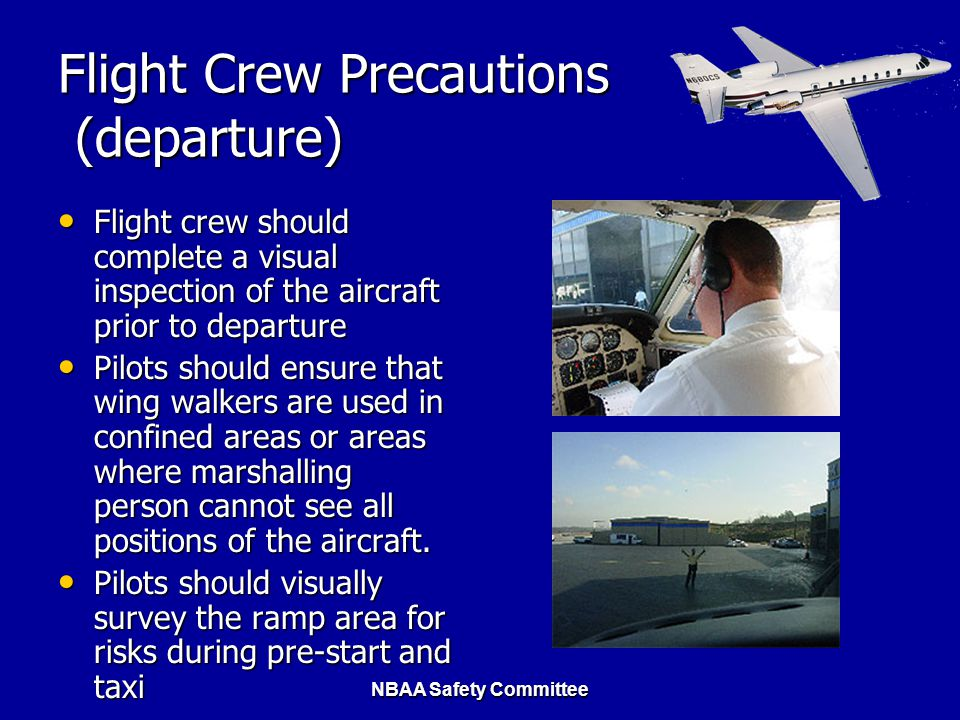 Flight Crew Precautions (departure)