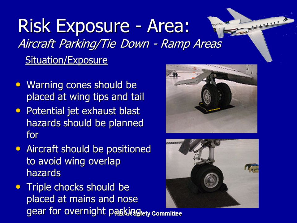 Risk Exposure - Area: Aircraft Parking/Tie Down - Ramp Areas