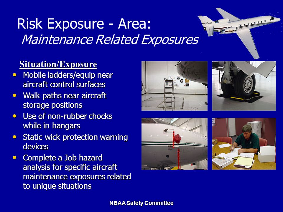 Risk Exposure - Area: Maintenance Related Exposures