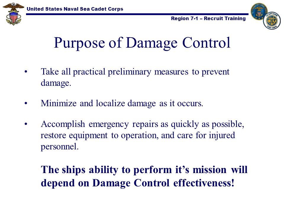 Purpose of Damage Control