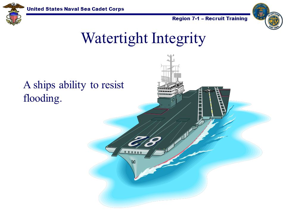 Watertight Integrity A ships ability to resist flooding.