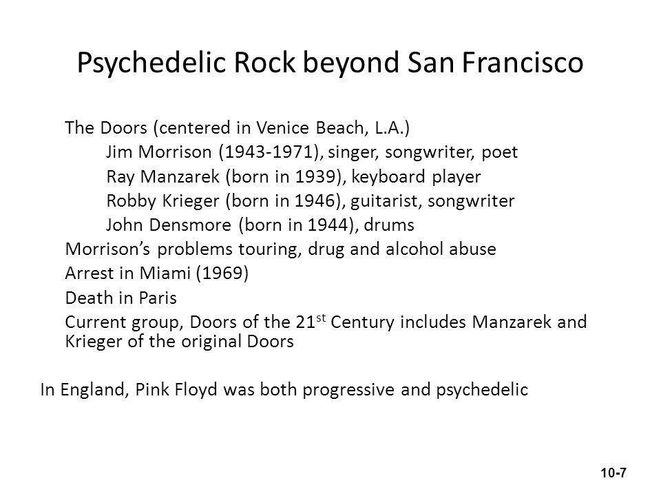 Psychedelic Rock beyond San Francisco