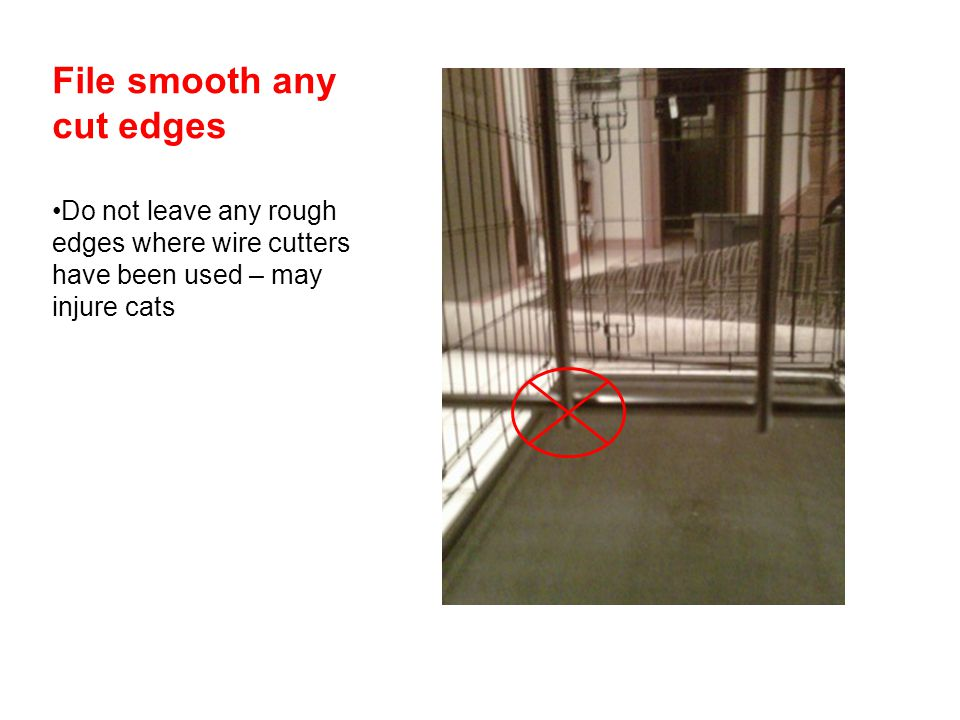 File smooth any cut edges