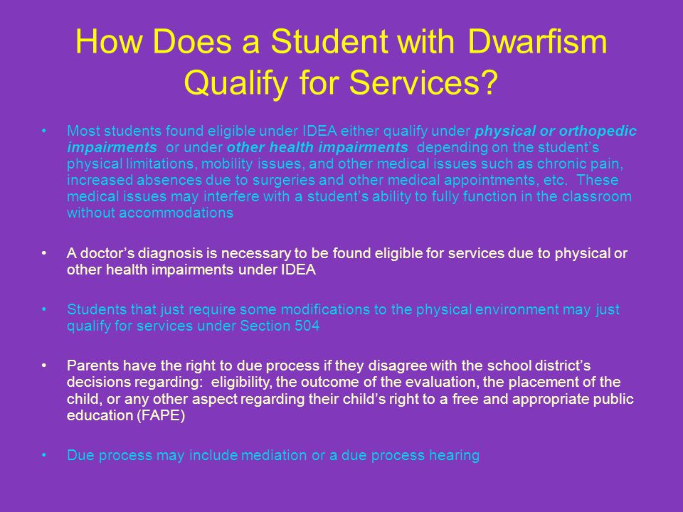 How Does a Student with Dwarfism Qualify for Services