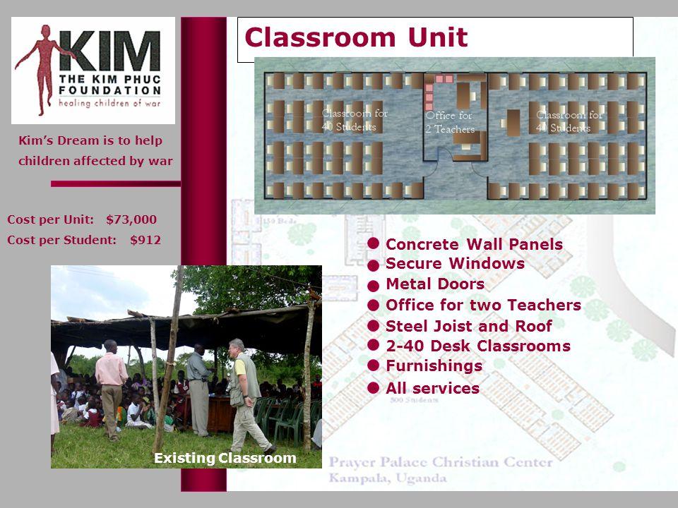 Classroom Unit Concrete Wall Panels Secure Windows Metal Doors