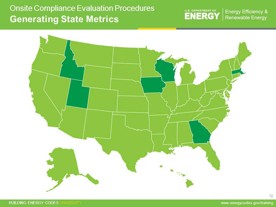 Onsite Compliance Evaluation Procedures Generating State Metrics