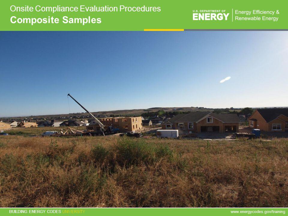 Onsite Compliance Evaluation Procedures Composite Samples