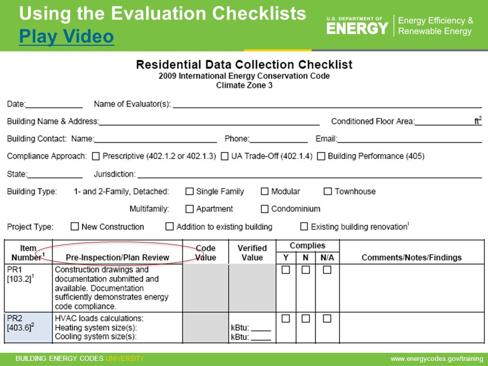 Using the Evaluation Checklists Play Video
