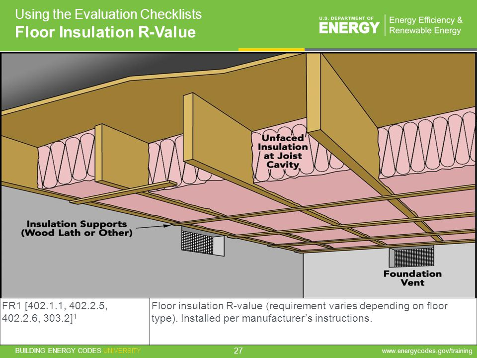 Floor Insulation R-Value