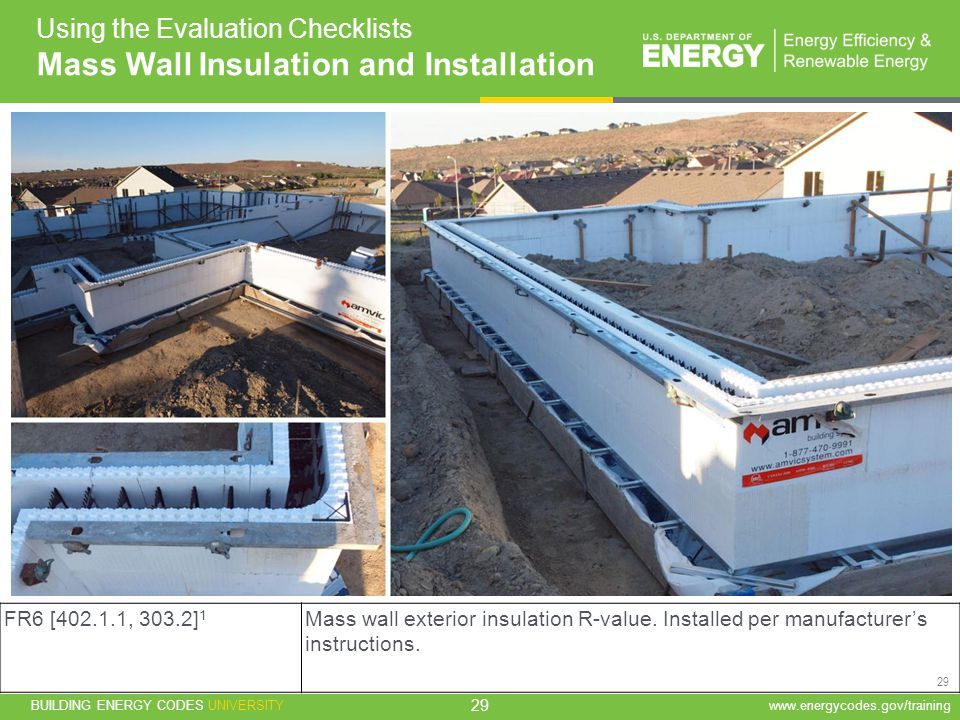 Mass Wall Insulation and Installation