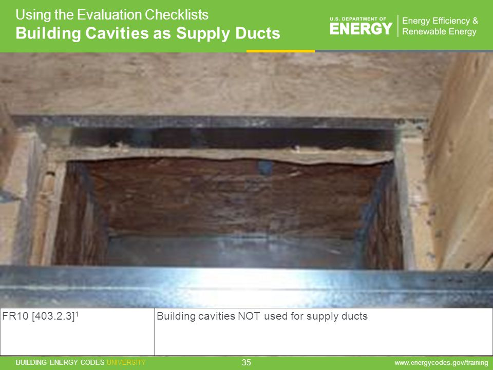 Building Cavities as Supply Ducts