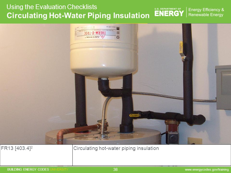 Circulating Hot-Water Piping Insulation