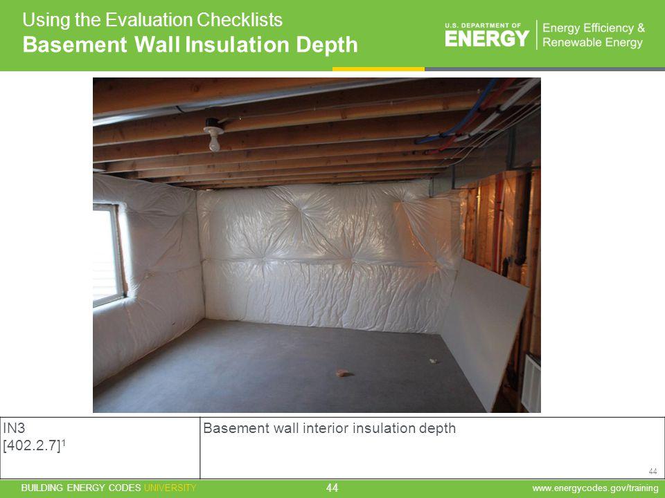 Basement Wall Insulation Depth