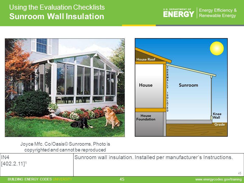 Sunroom Wall Insulation