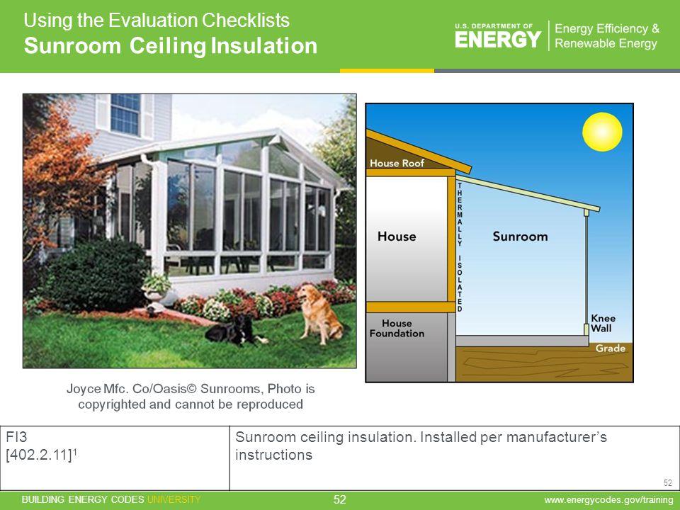 Sunroom Ceiling Insulation