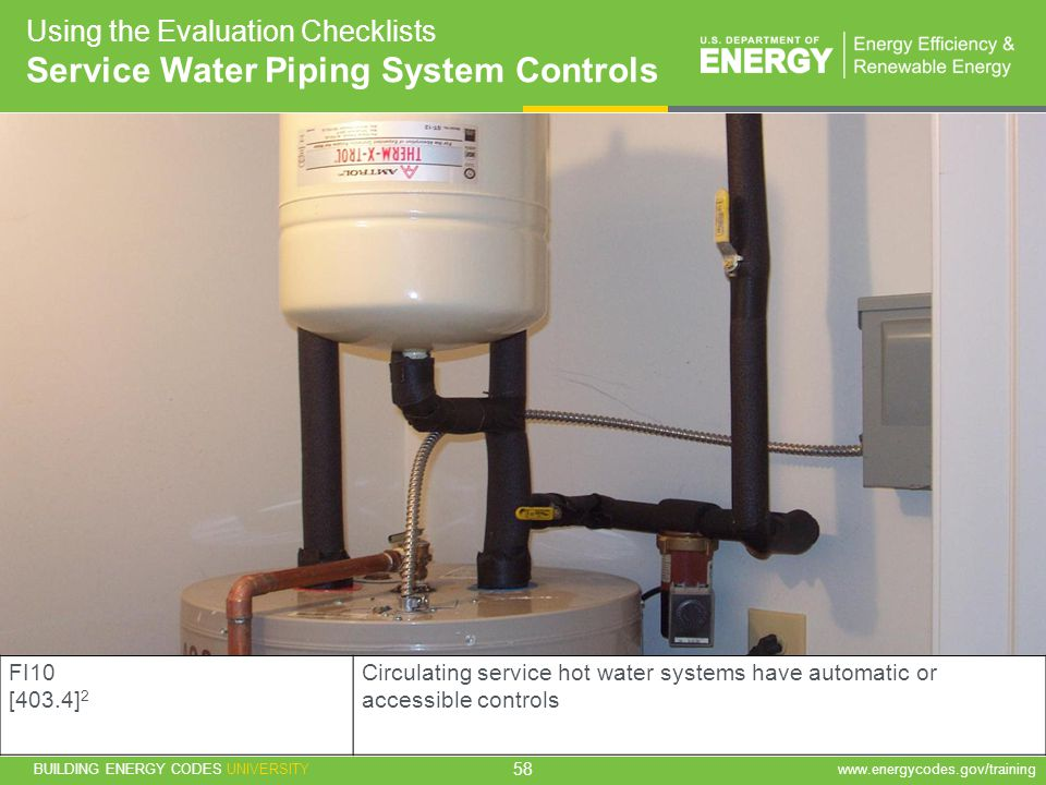 Service Water Piping System Controls