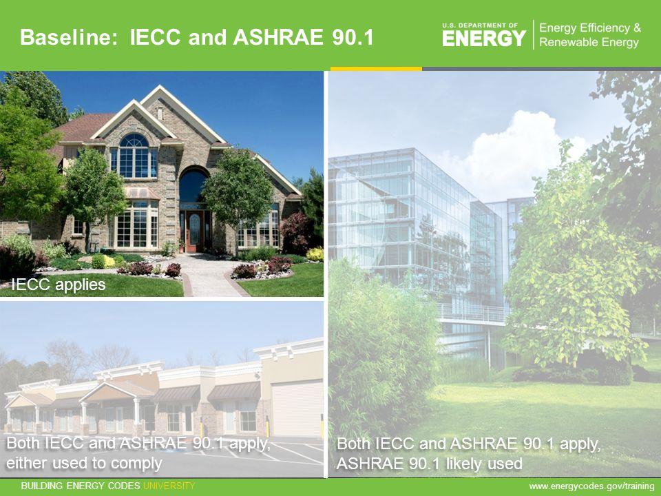 Baseline: IECC and ASHRAE 90.1