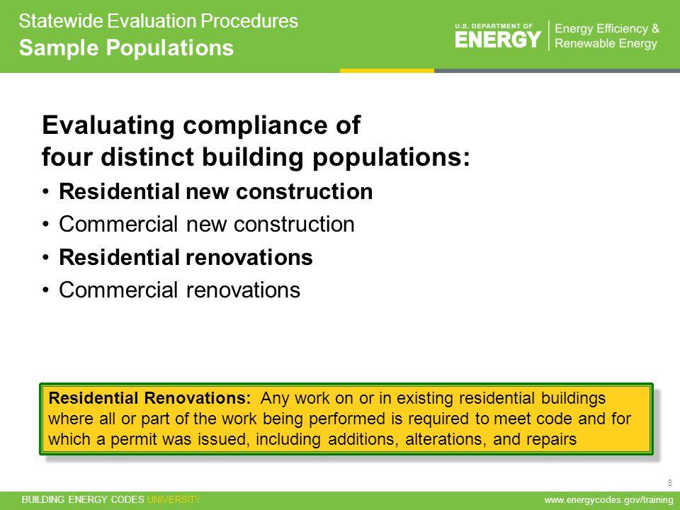 Statewide Evaluation Procedures Sample Populations