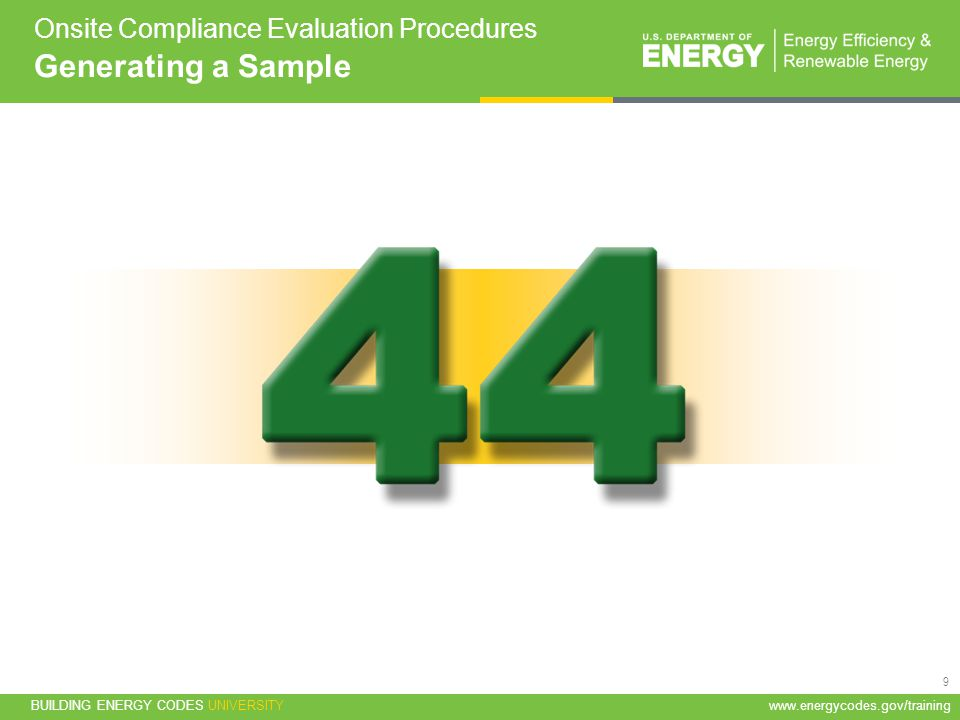 Onsite Compliance Evaluation Procedures Generating a Sample