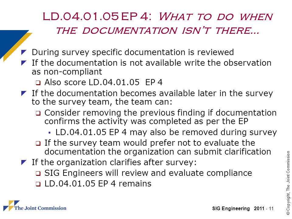 LD.04.01.05 EP 4: What to do when the documentation isn't there…