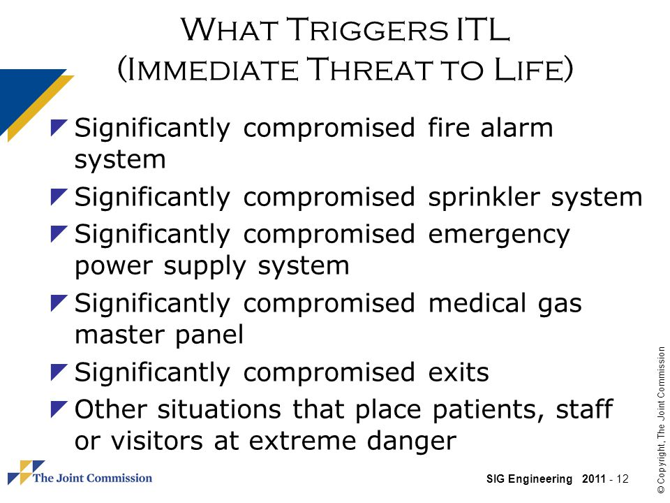What Triggers ITL (Immediate Threat to Life)