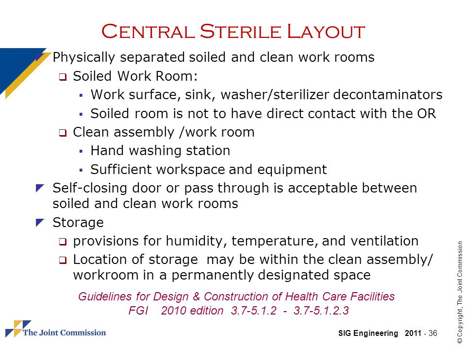 Central Sterile Layout