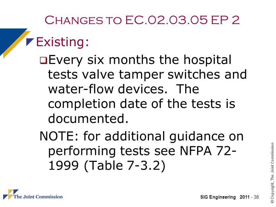 Changes to EC.02.03.05 EP 2 Existing: