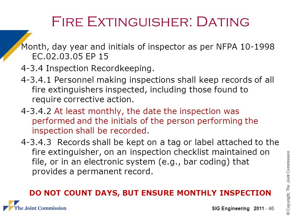 Fire Extinguisher: Dating