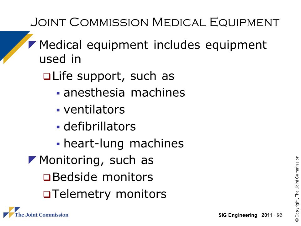Joint Commission Medical Equipment
