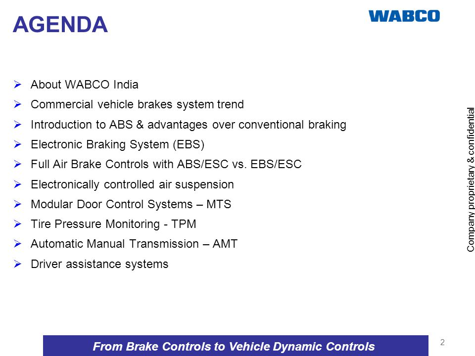 From Brake Controls to Vehicle Dynamic Controls