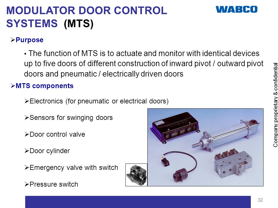 MODULATOR DOOR CONTROL SYSTEMS (MTS)