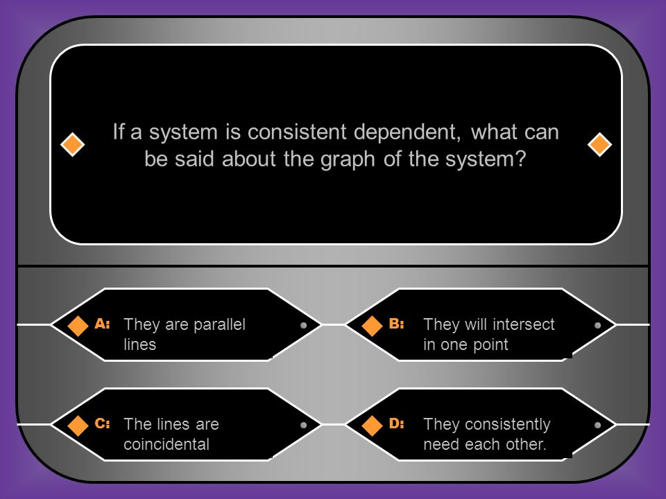 If a system is consistent dependent, what can
