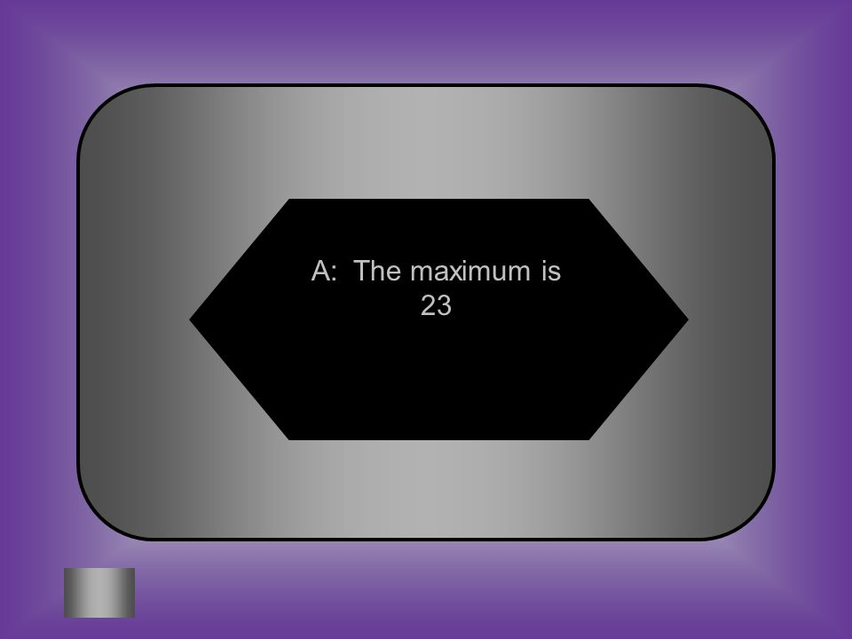 A: The maximum is 23