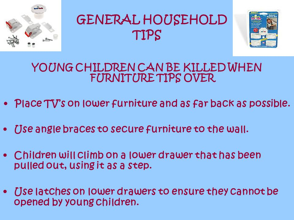 GENERAL HOUSEHOLD TIPS