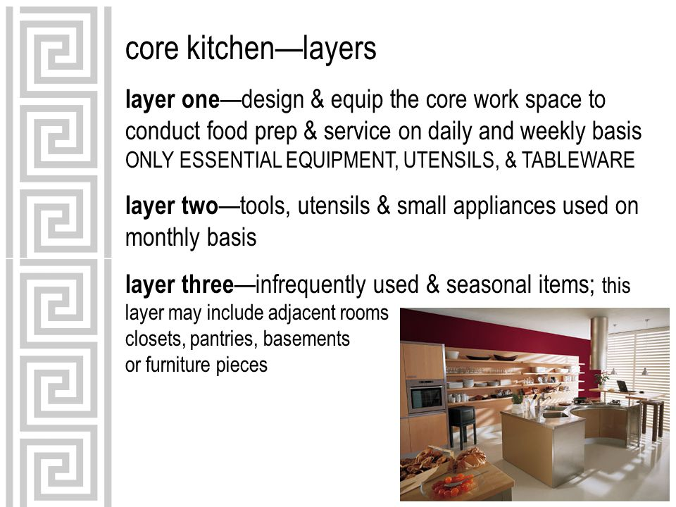 core kitchen—layers