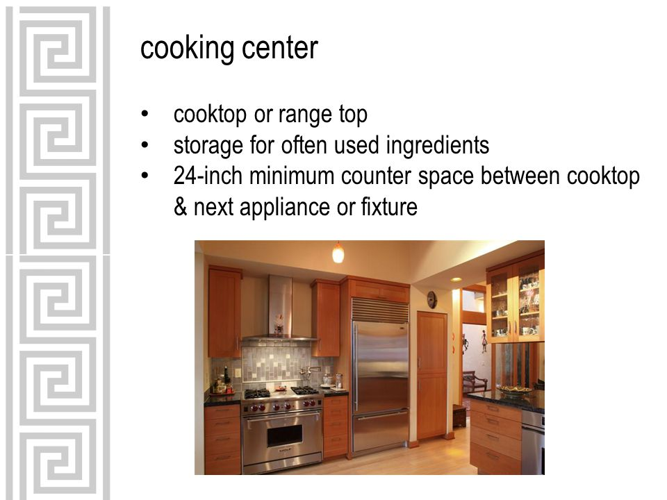 cooking center cooktop or range top storage for often used ingredients