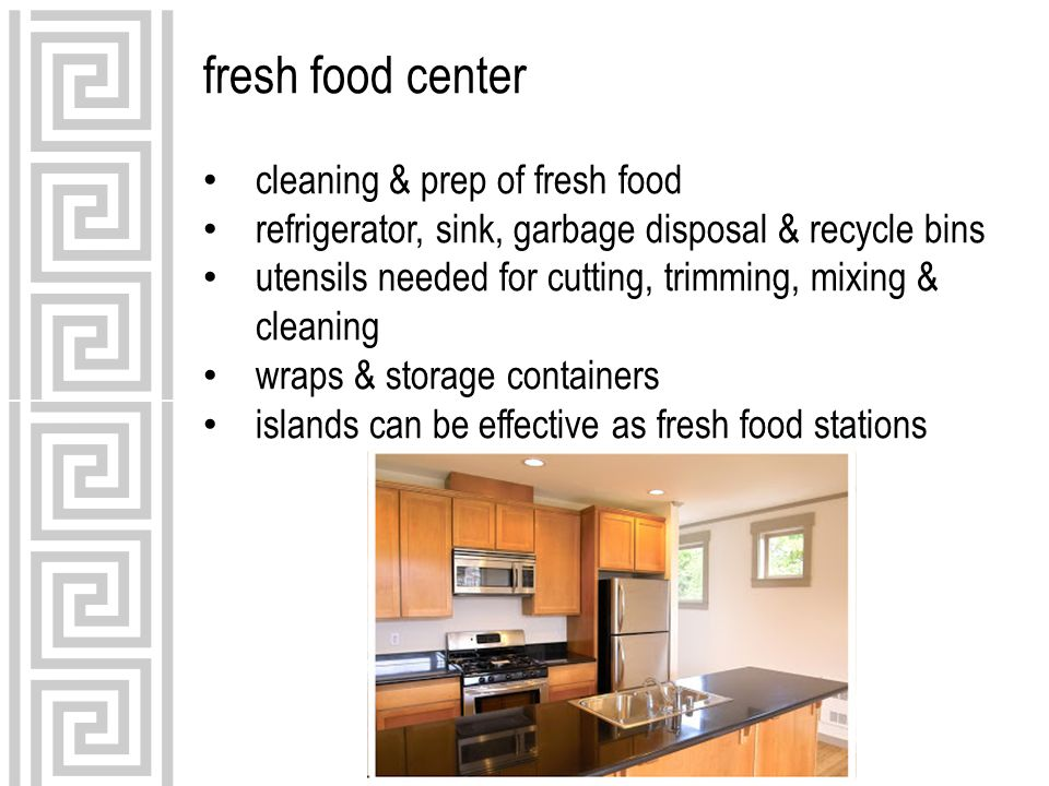 fresh food center cleaning & prep of fresh food