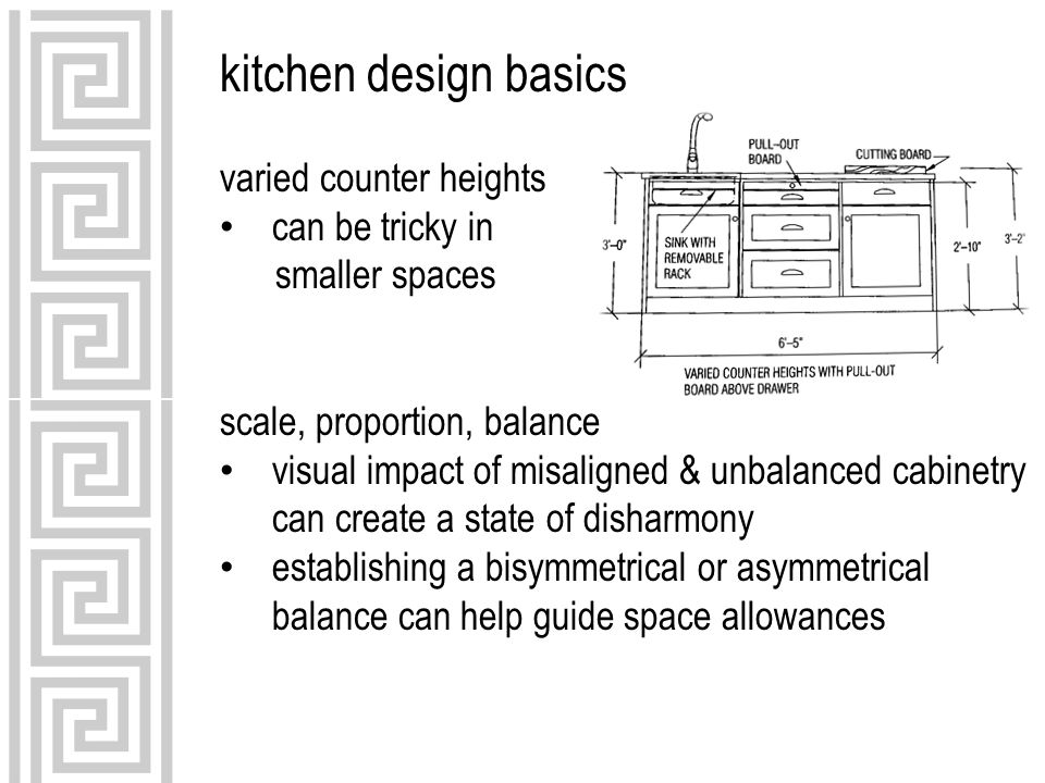 kitchen design basics varied counter heights can be tricky in