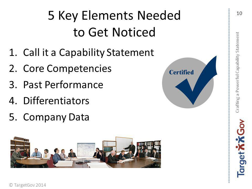 5 Key Elements Needed to Get Noticed