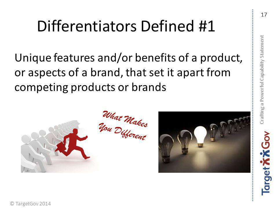 Differentiators Defined #1