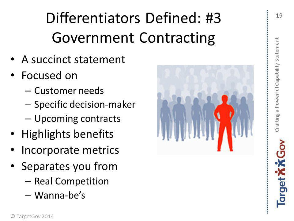 Differentiators Defined: #3 Government Contracting