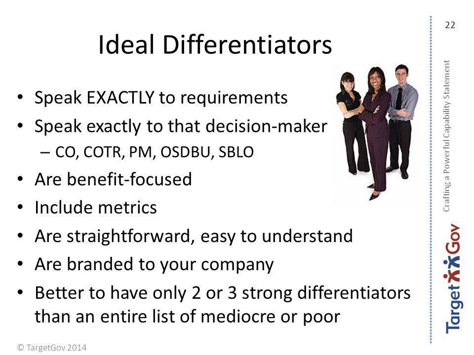 Ideal Differentiators