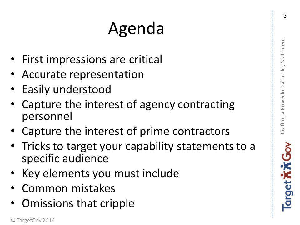 Agenda First impressions are critical Accurate representation