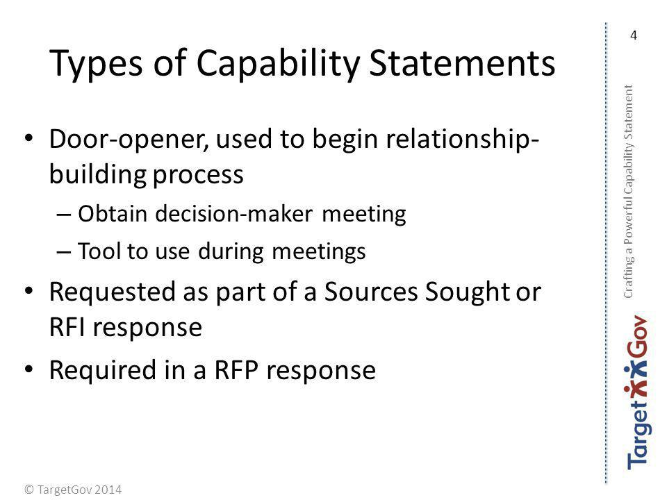 Types of Capability Statements
