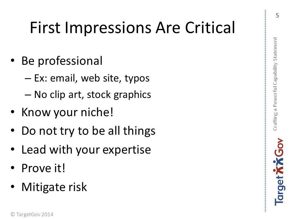 First Impressions Are Critical