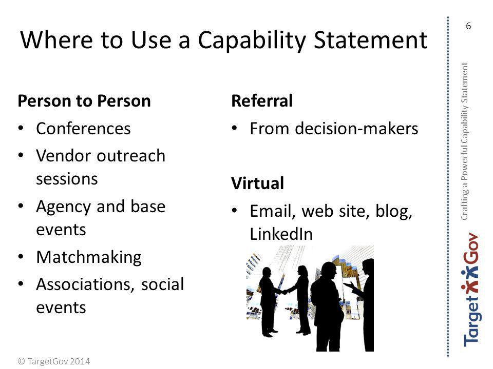Where to Use a Capability Statement