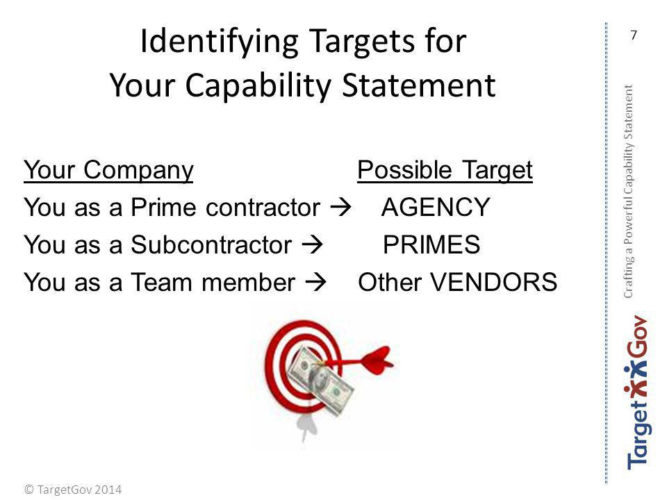 Identifying Targets for Your Capability Statement