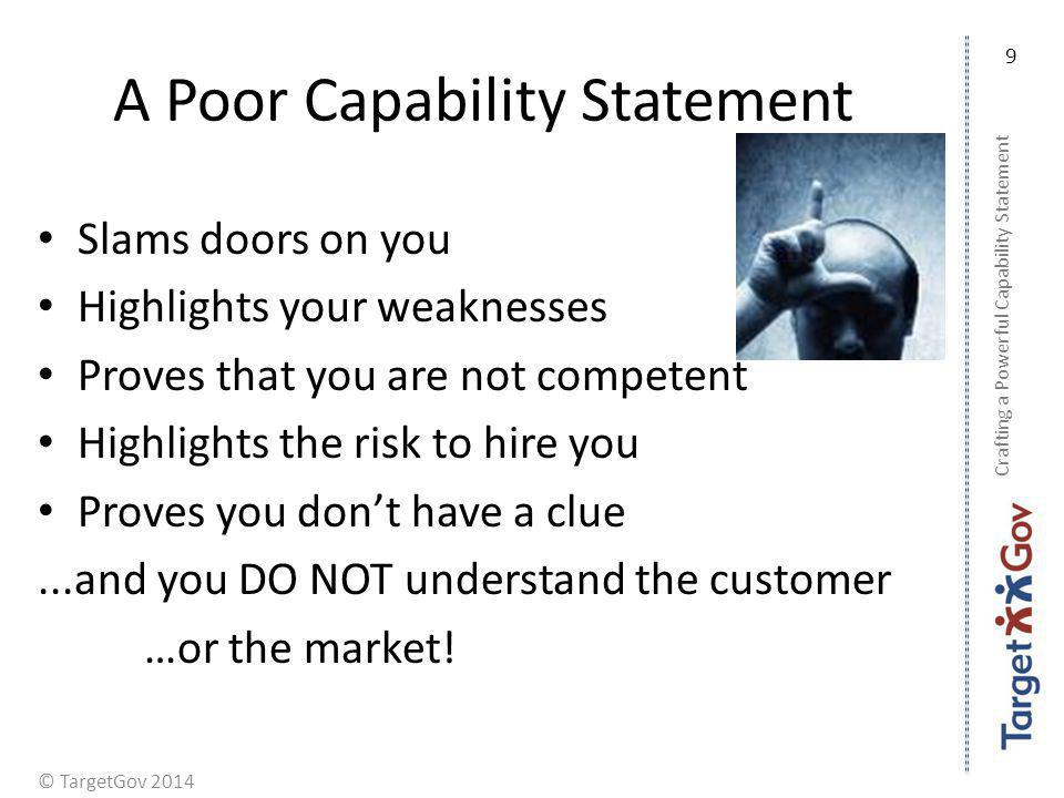 A Poor Capability Statement