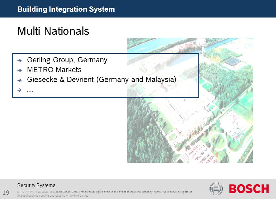 Multi Nationals Building Integration System Gerling Group, Germany
